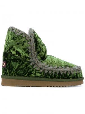 Бархатные ботинки Eskimo 18 Mou. Цвет: зелёный