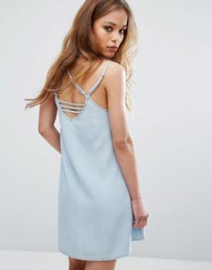 RVCA Платье на тонких бретельках. Цвет: синий