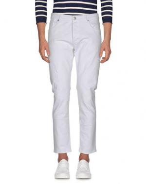 Джинсовые брюки TELERIA ZED. Цвет: белый