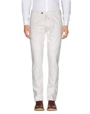Повседневные брюки B SETTECENTO. Цвет: белый