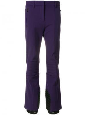 Расклешенные брюки Moncler Grenoble. Цвет: розовый и фиолетовый