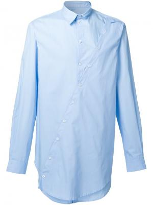 Многослойная рубашка Icosae. Цвет: синий