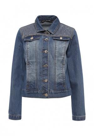 Куртка джинсовая Love Republic. Цвет: синий