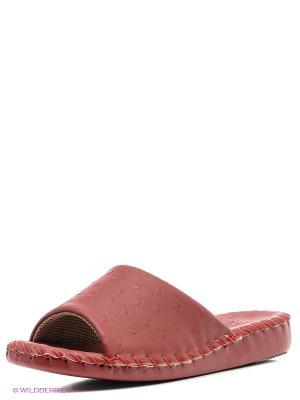 Тапочки Pansy. Цвет: красный