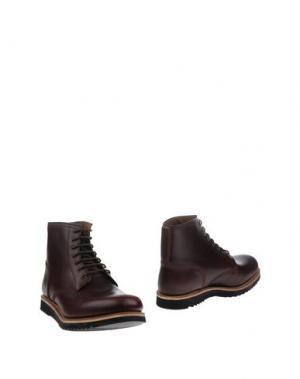 Полусапоги и высокие ботинки GRENSON. Цвет: какао