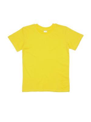 Футболка Cherubino. Цвет: желтый