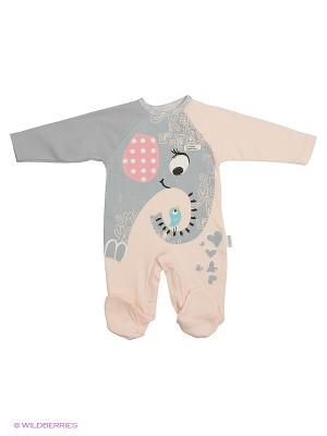 Комбинезон для малышей WO&GO. Цвет: персиковый, серый