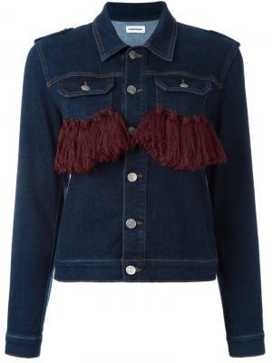 Джинсовая куртка с кисточками Au Jour Le. Цвет: синий