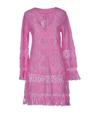 Короткое платье TEMPTATION. Цвет: розовый