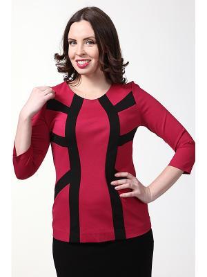 Блузка LISSA. Цвет: черный, бордовый