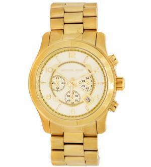Кварцевые часы с золотистым браслетом Michael Kors