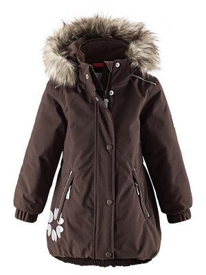 Куртка Reima. Цвет: коричневый