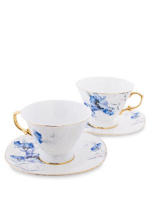 Чайный н-р на 2 перс. Фиор де Парадис (Pavone) Pavone. Цвет: белый