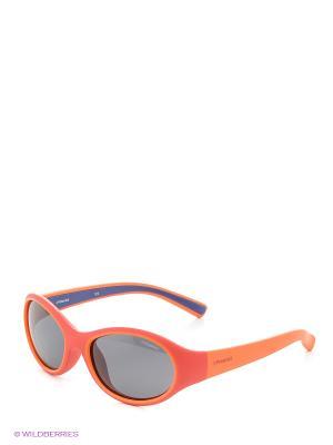 Солнцезащитные очки Polaroid. Цвет: красный, оранжевый