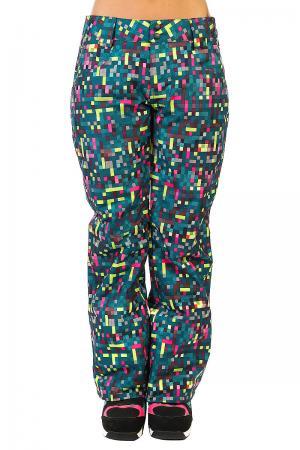Штаны сноубордические женские  Fit Insulated Pants Lightning Green Oakley. Цвет: мультиколор