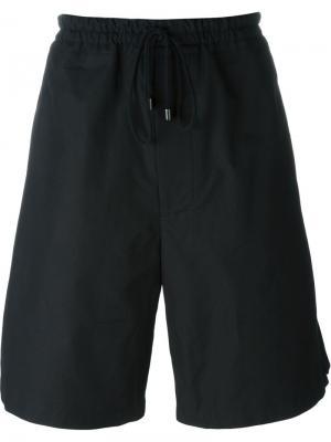 Спортивные шорты с эластичным поясом Berthold. Цвет: чёрный