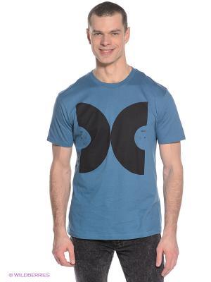 Футболка DC Shoes. Цвет: серо-голубой