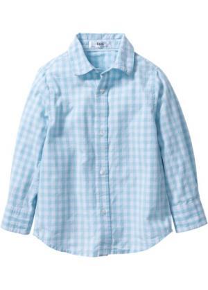 Рубашка для Октоберфеста, Размеры  80/86-128/134 (лазурный/белый в клетку) bonprix. Цвет: лазурный/белый в клетку