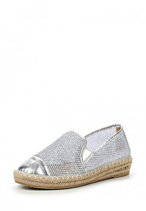 Эспадрильи Sweet Shoes. Цвет: серебряный
