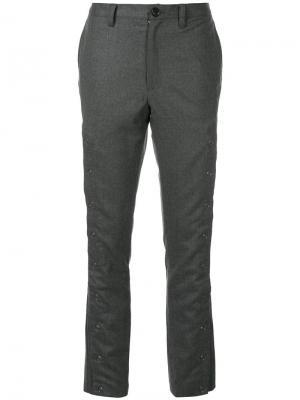 Укороченные строгие брюки Non Tokyo. Цвет: серый
