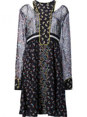 Полупрозрачное платье Dorothee Schumacher. Цвет: многоцветный