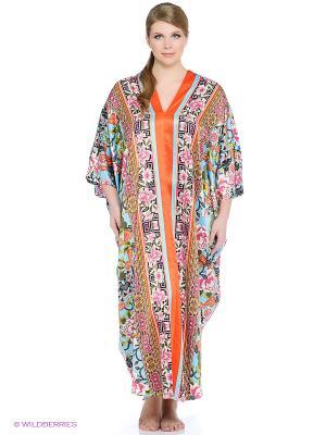 Платье - туника Natori. Цвет: голубой, розовый