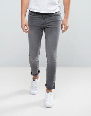 New Look Серые джинсы скинни. Цвет: серый