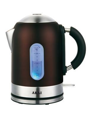 Чайник электрический 1,7 литра AKAI. Цвет: темно-коричневый