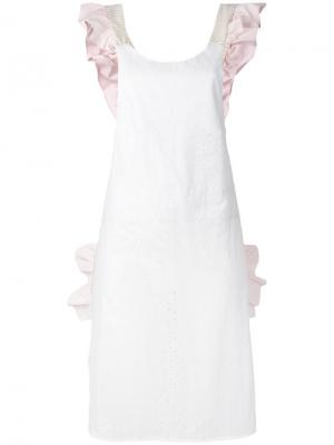 Платье с оборкой Anna K. Цвет: белый
