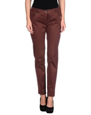 Повседневные брюки ANIYE BY. Цвет: баклажанный