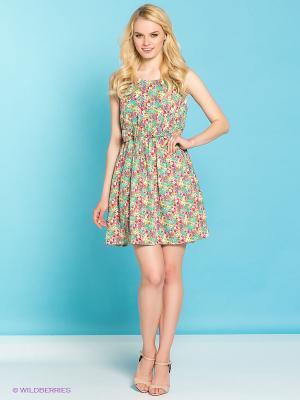 Платье Emoi by Emonite. Цвет: зеленый, малиновый