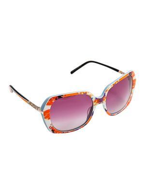 Солнцезащитные очки Kameo-bis. Цвет: серый, оранжевый, белый