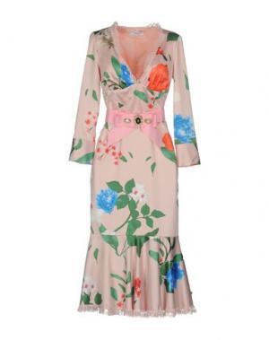 Платье длиной 3/4 TENAX. Цвет: светло-розовый