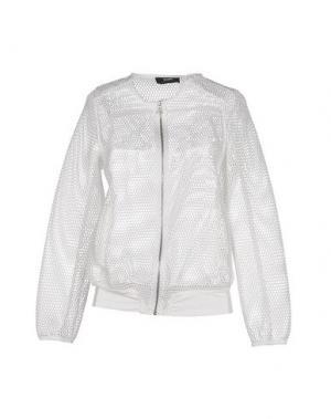 Куртка TO-MAY. Цвет: белый
