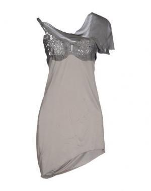Короткое платье NICOLAS & MARK. Цвет: серый