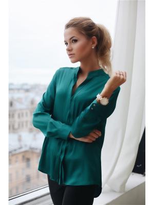 Блузка Kim Wooly's. Цвет: зеленый