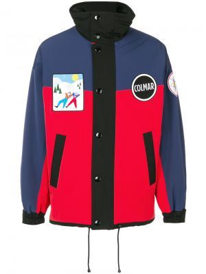 Куртка-бомбер дизайна колор-блок Colmar. Цвет: красный