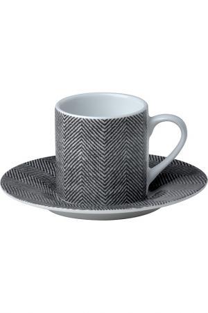 Набор кофейных пар 6 шт. Bitossi. Цвет: серый
