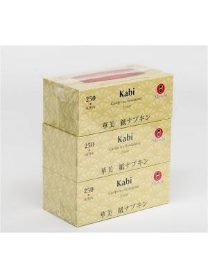 Набор бумажных салфеток Kabi Maneki. Цвет: белый