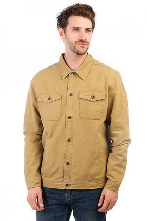 Куртка джинсовая  Tradiejacket British Khaki Quiksilver. Цвет: светло-коричневый