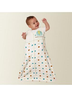 Комплект Спальный мешок на молнии 1 шт.+ Салфетки для кормления, 2 шт. babydays. Цвет: желтый, белый