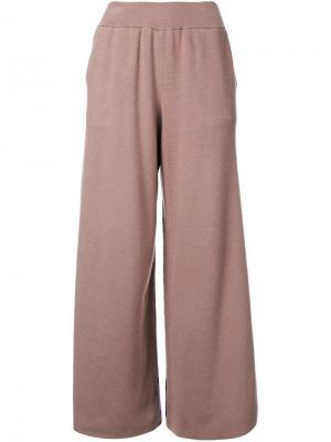 Широкие брюки Guild Prime. Цвет: коричневый