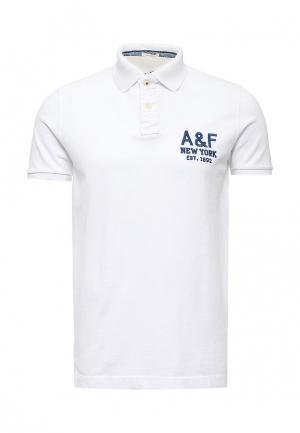Поло Abercrombie & Fitch. Цвет: белый
