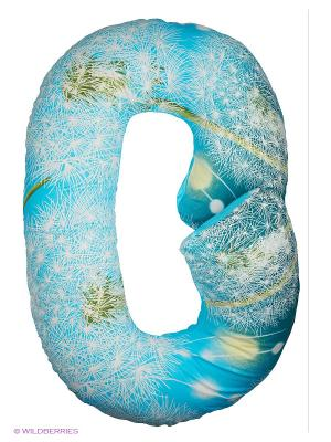 Подушка для беременных Здоровье и комфорт. Цвет: голубой, синий