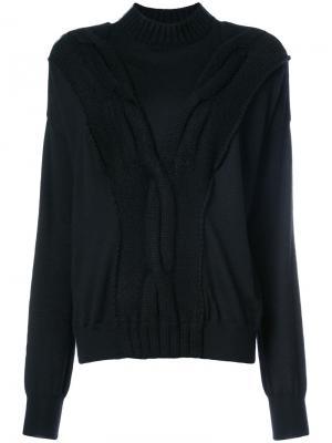 Кашемировый трикотажный свитер Sally Lapointe. Цвет: чёрный