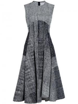Платье без рукавов в клетку Jason Wu. Цвет: чёрный