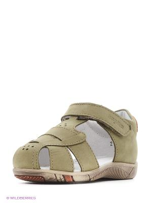 Туфли Kapika. Цвет: оливковый