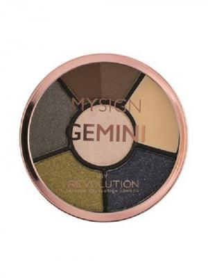 Палетка для макияжа глаз Complete Eye Base Gemini MakeUp Revolution. Цвет: темно-синий, персиковый, темно-коричневый