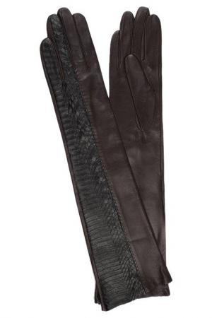 Перчатки Dali Exclusive. Цвет: коричневый, черная змея