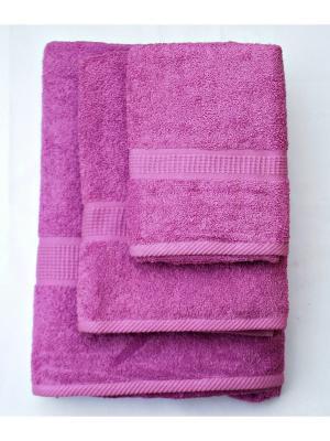 Комплект полотенец Макси 3 предмета 50х100, 70х140, 100х180. La Pastel. Цвет: сиреневый